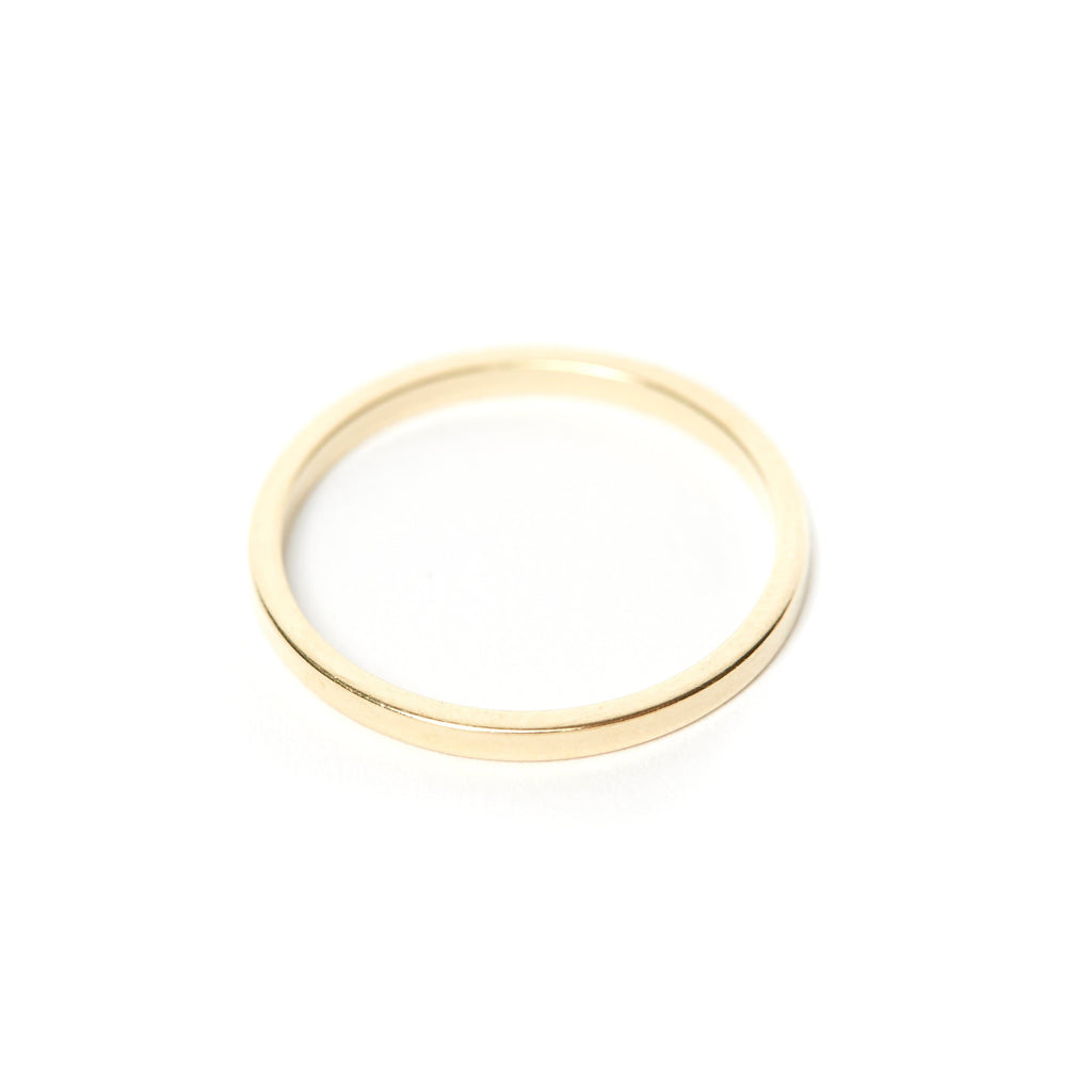 SKINNY STACKING BAND 14 karak solid gold