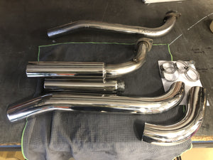 Suzuki Boulevard M109 R Custom Polished Dump Pipes, Exhaust System.