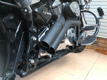 Load image into Gallery viewer, Suzuki Boulevard M109 R Custom Ceramic Coated Black Dump Pipes, Exhaust System.