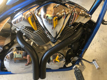 Load image into Gallery viewer, Honda Fury ceramic coated black dump pipes