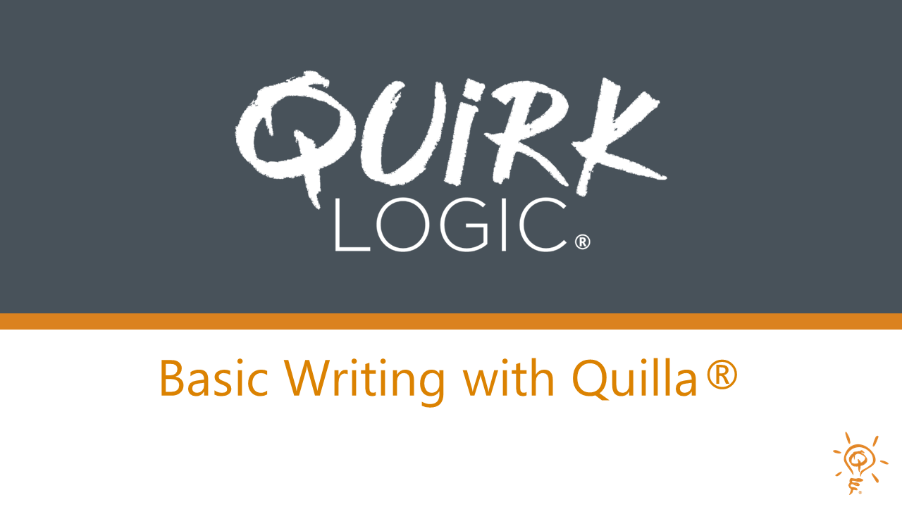 Training: Basic Writing with Quilla