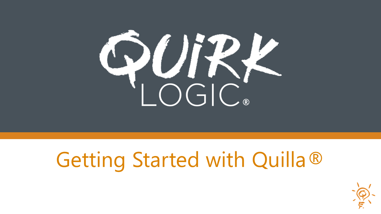 Training: Getting Started with Quilla