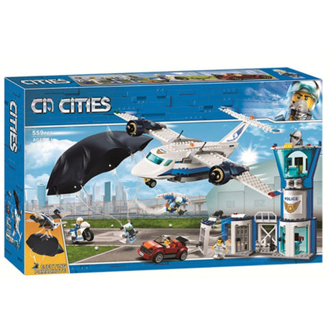 11210  559pcs city arctic sky police air base getaway car airplane parachute legoinglys building blocks brick 60210 Toy