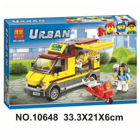 VIP client 10648 City Car Series Pizza Selling Car Van Figures Toys Building Blocks Bricks Compatible Legoinglys 60150 Toys