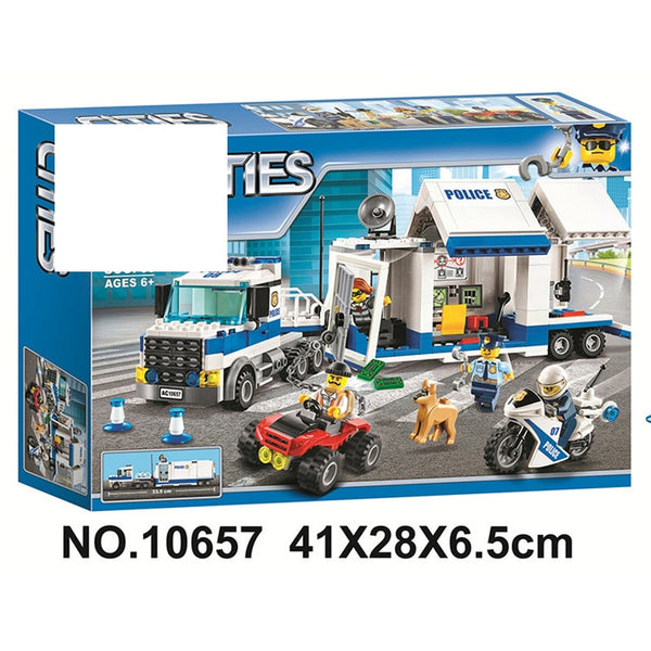 New 02020 965Pcs City Series Compatible With Legoing 60141 Police Station Set Building Blocks Bricks Toys for Children Gifts