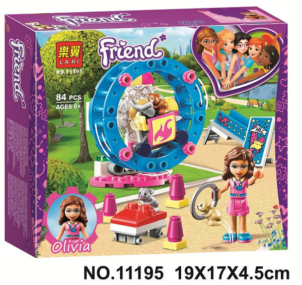 For legoelys Friends Girl Vet Olivia Hamster Playground Mia Forest Adventures Emma Mobile Veterinary Clinic Building Blocks Toys