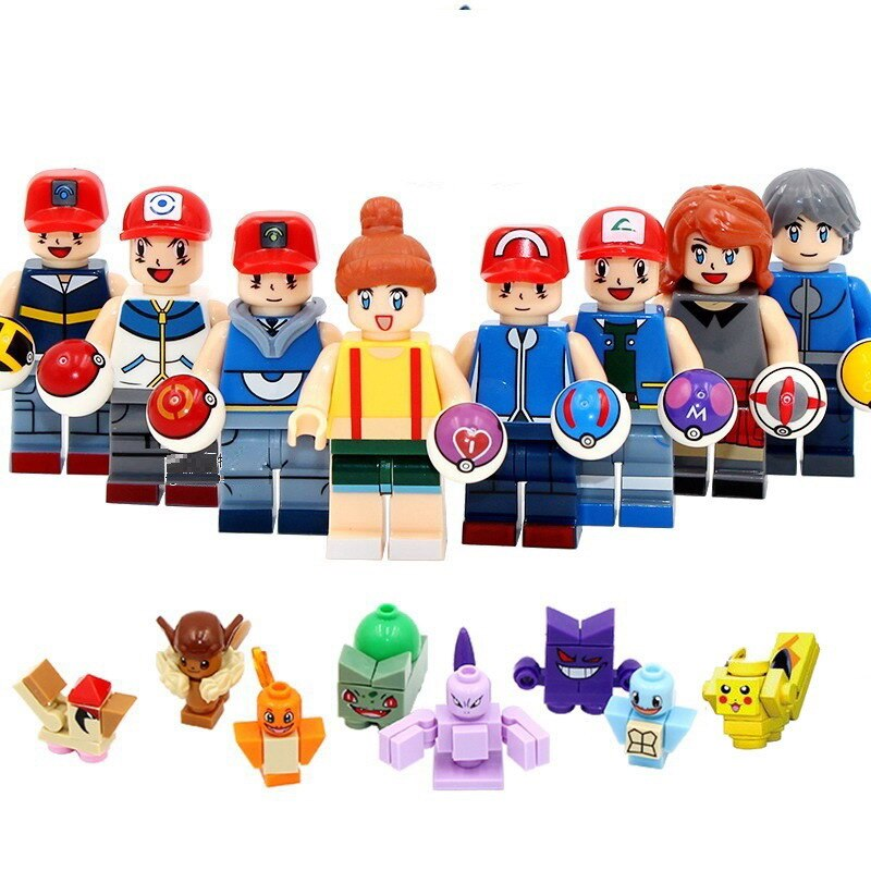 20Pcs/Set City All Kinds of Citizens Human Police Thief Driver Engineer Model Building Blocks Enlighten Figure Toys For Children
