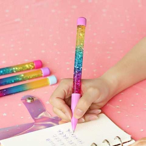 Rainbow Color Glitter Crystal Pen