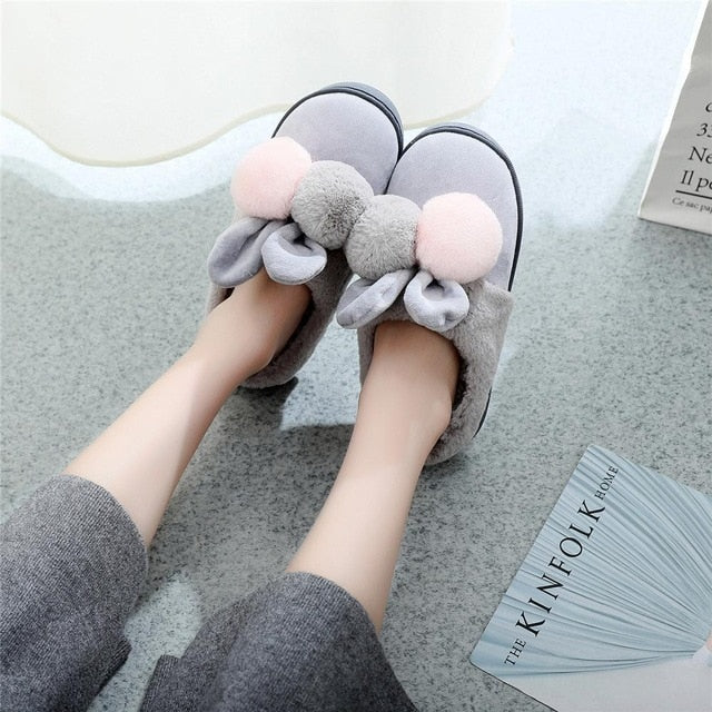 Cute Rabbit Ears Slippers