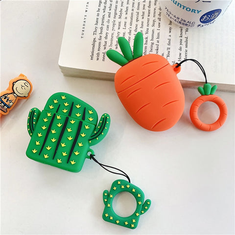 Carrot&Cactus Airpods Case