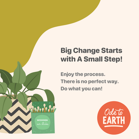 Big Change Starts with a Small Step! Enjoy the process.  There is no perfect way.  Do what you can!