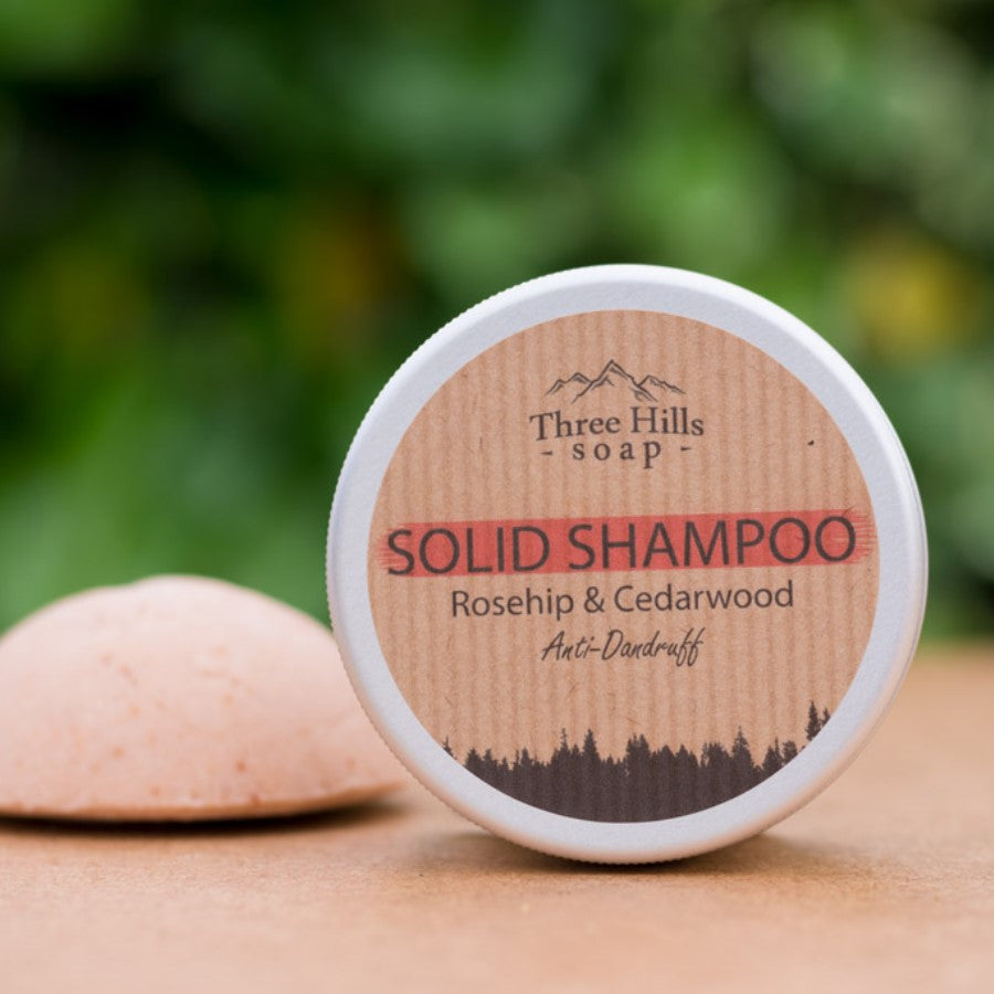 Anti-Dandruff Solid Shampoo – Rosehip and Cedarwood