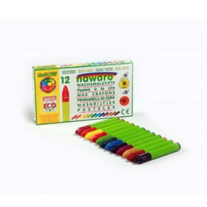 Eco-conscious wax crayons - 12 colours
