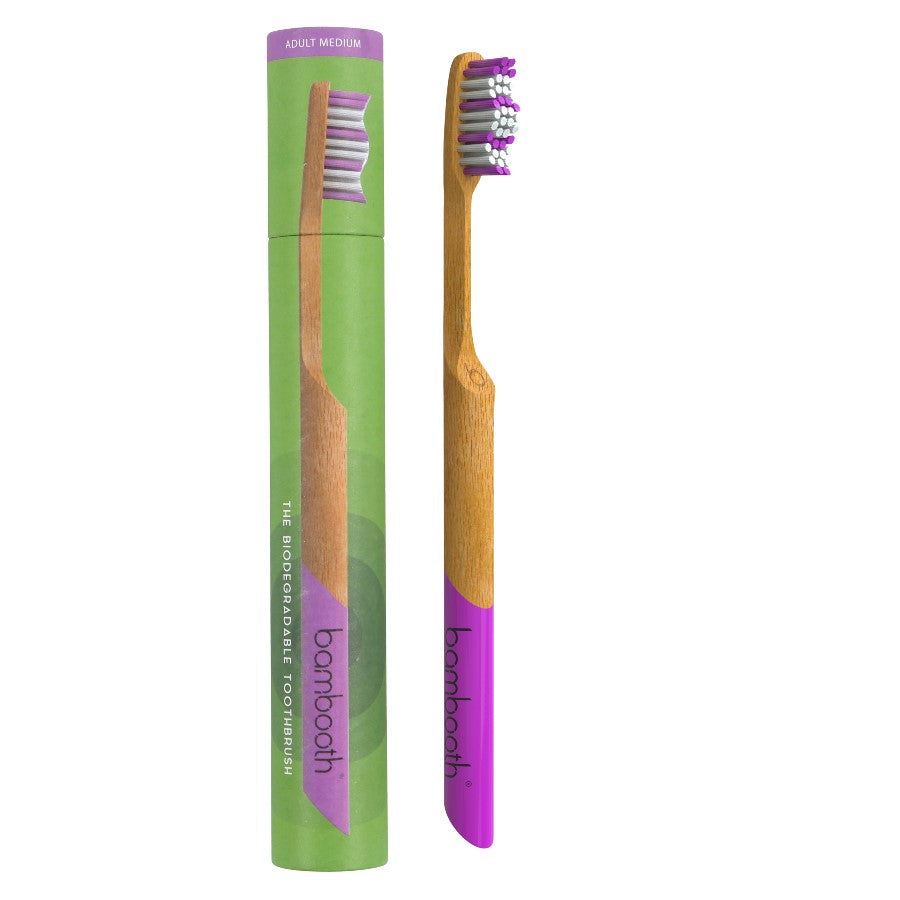 Bamboo Toothbrush - Coral Pink