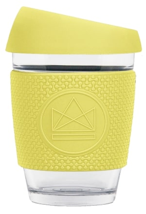 Reusable Glass Cup - Neon Kactus