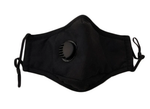 100% Cotton Face Mask with Inner Pocket for Additional Filter - Black - Triple Layer