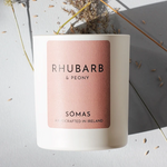 Rhubarb & Peony Scented Soy Candle
