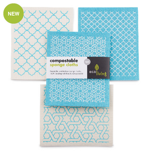 Compostable Sponge Cleaning Cloths - Moroccan Style