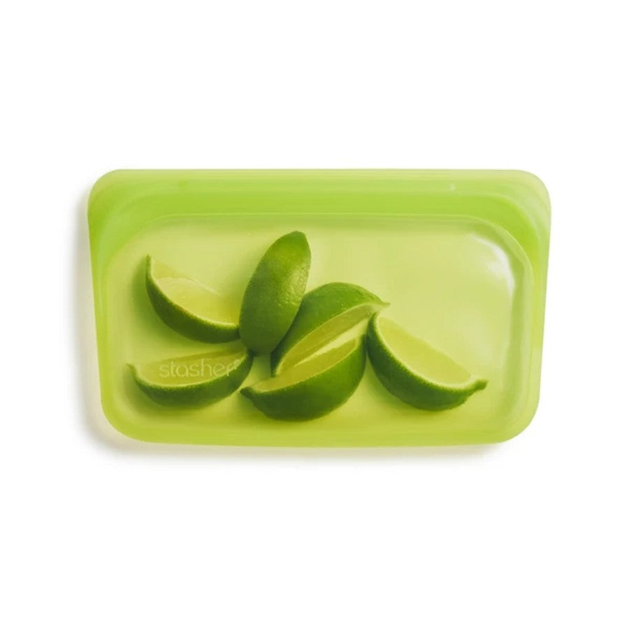 Reusable Stasher Silicone Snack Bag - Lime
