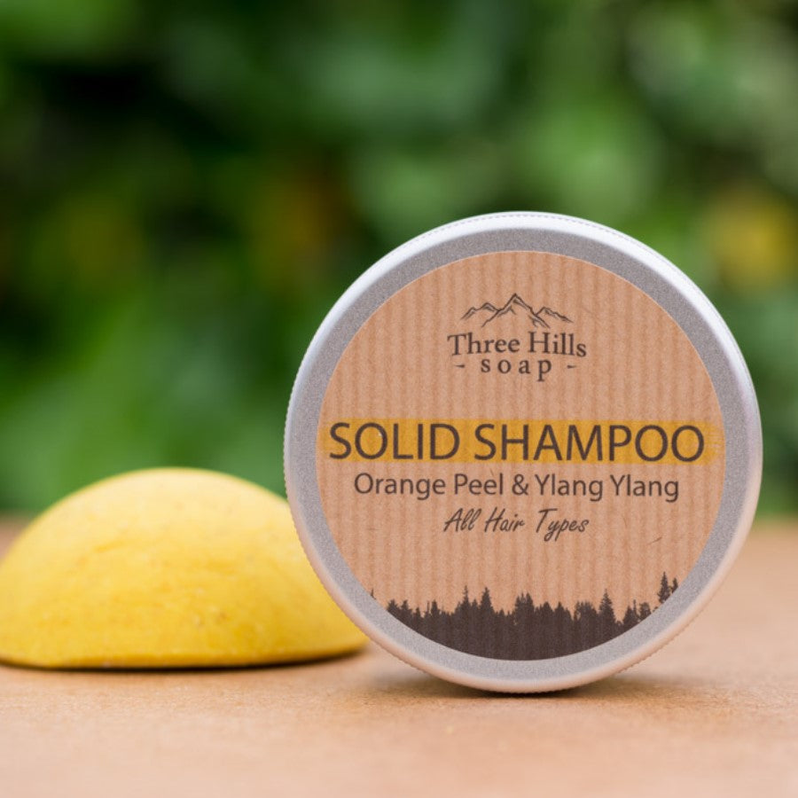 Solid Shampoo for All Hair Types – Orange Peel and Ylang Ylang