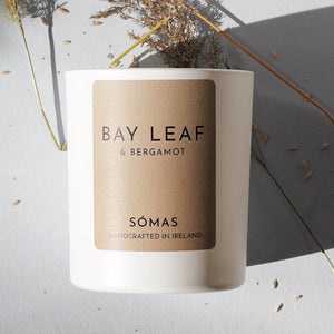 Bay Leaf & Bergamot Scented Soy Candle