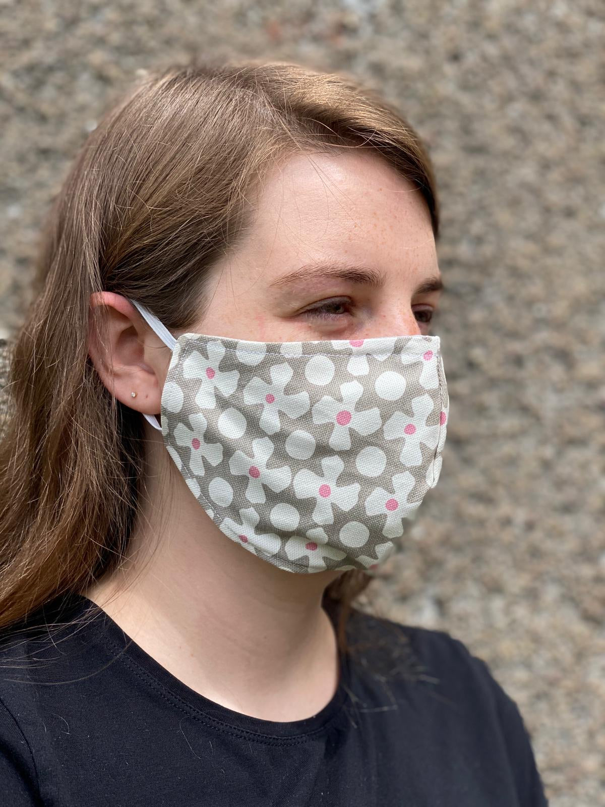 Reusable 2 layered Face Mask with Nose Wire