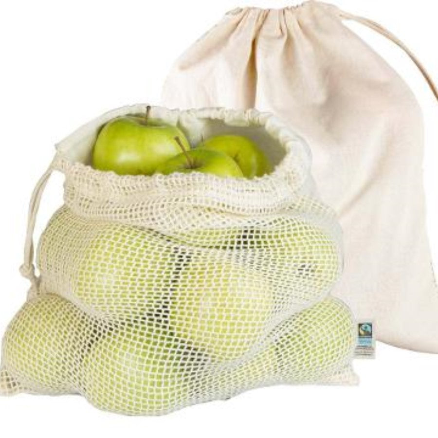 Organic Cotton Produce Bags x 2