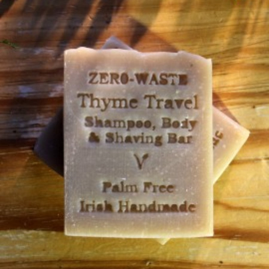 Thyme Travel Shampoo, Body & Shaving Bar