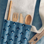 Cutlery Roll and Reusable Bamboo Cutlery