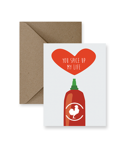 You Spice Up My Life Love Card