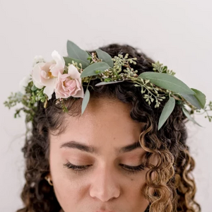 "Flower Crown ""Gracie"" • Bloom Shakalaka • Funky Fresh Flower Shop • Lakeland, FL"