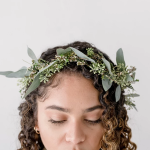 "Flower Crown ""Jolene"" • Bloom Shakalaka • Funky Fresh Flower Shop • Lakeland, FL"