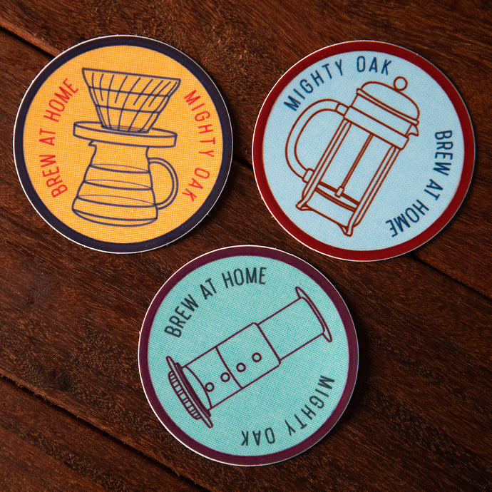 Brew At Home Stickers
