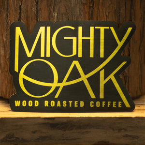 "Mighty Oak 3.5"" Metallic Logo Sticker"