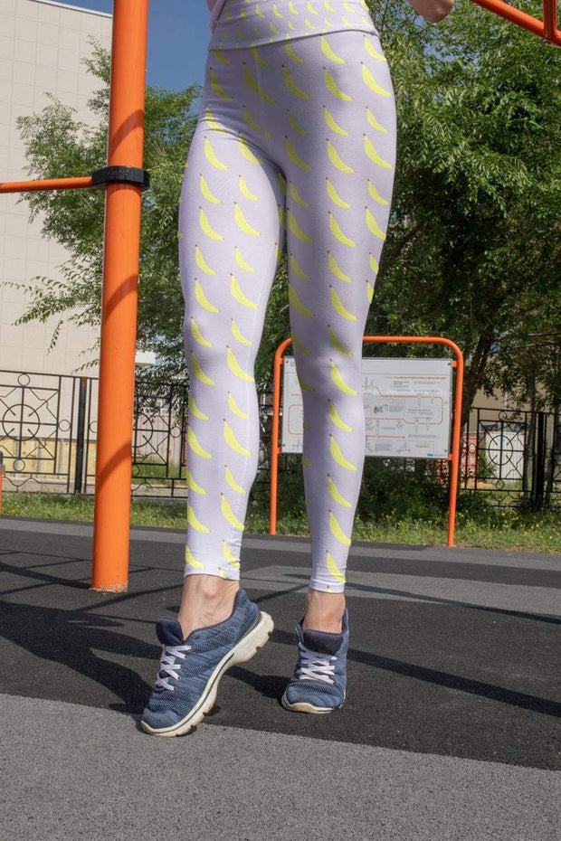 Banana Printed leggings Capris & Shorts
