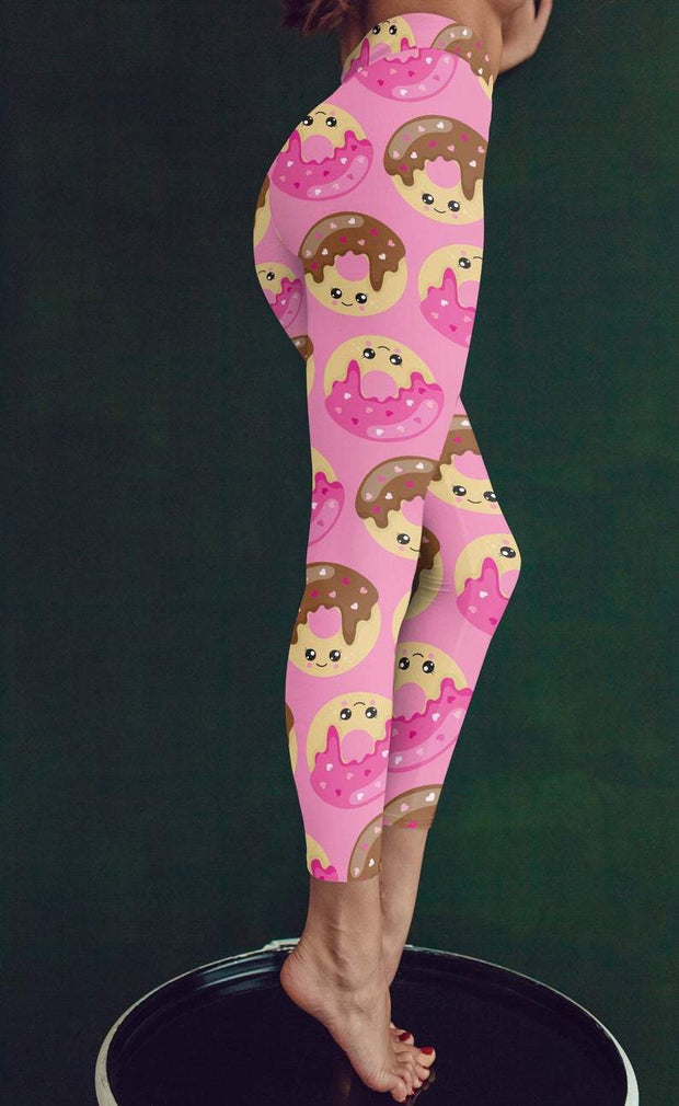 Donut Printed leggings Capris & Shorts