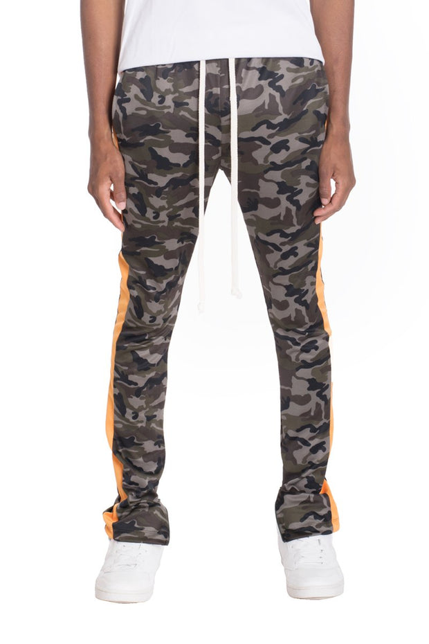 NEUTRAL CAMO TRACK PANTS- ORANGE