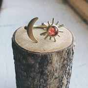 Sun and Moon Sculptural Statement Ring