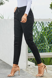 Black Elastic Denims