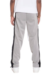 SNAP BUTTON TRACK PANTS- GREY