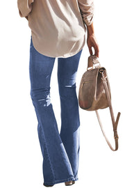 Womens Light Blue Wash Bell Bottoms