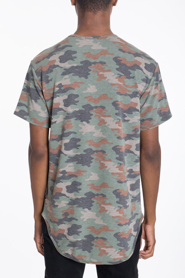 CAMO SCALLOP TEE-GREEN