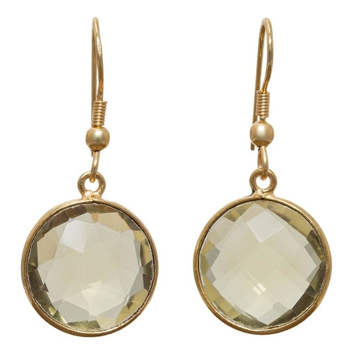 Leena Lemon Quartz Earrings
