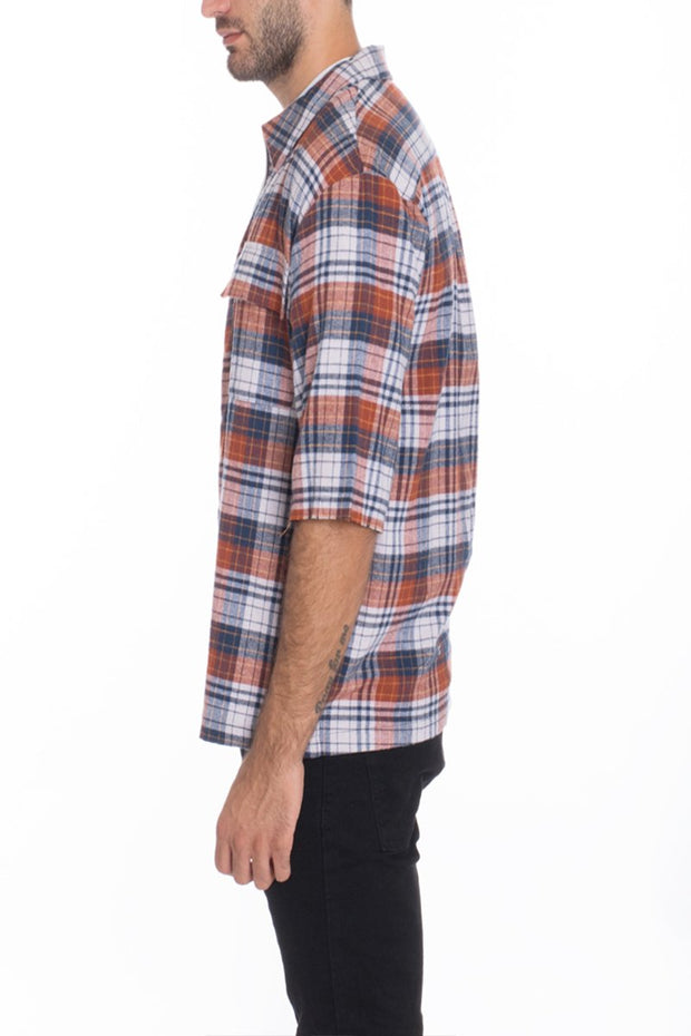 SHORT FRONT ZIP FLANNEL