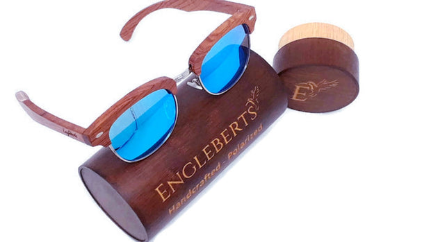100% Real Sandalwood Sunglasses With Bamboo Case
