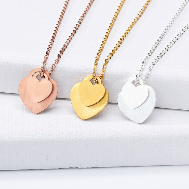 Simple Double Heart Necklaces