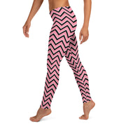 Pink Chevron leggings Capris & Shorts