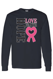 Hope Love Faith Breast Cancer awareness