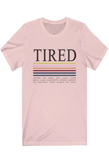 TIRED Jersey Short Sleeve Tee