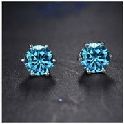 Aqua CZ Earrings